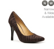 Nine West Gwendle Brushed Fabric Zebra Pump