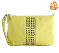 Audrey Brooke Leather Studded Clutch