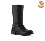 BCBG Paris Amy Studded Heel Boot