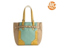 Melie Bianco Ibis Color Block Bucket Tote