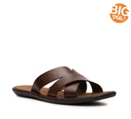 Mercanti Fiorentini Leather Slide Sandal