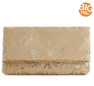 Lulu Townsend Lace Flap Clutch