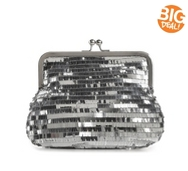 Lulu Townsend Sequin Frame Clutch