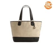 Audrey Brooke Perforated Leather Shopper Tote