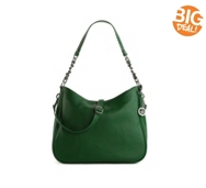 Audrey Brooke Heather Leather Convertible Hobo