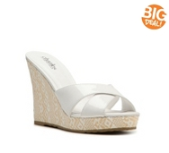 Charles by Charles David Tumbler Wedge Sandal