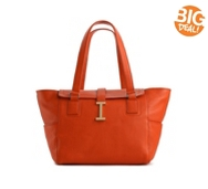Isaac Mizrahi Leather Greta Tote