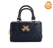 Deux Lux Double Cross Turn Lock Satchel
