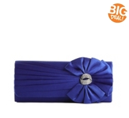 Lulu Townsend Satin Pleated Flap Clutch