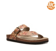 White Mountain Carly Floral Flat Sandal