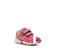 Saucony Baby Catalyst Girls Toddler Velcro Running Shoe