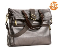 Fossil Explorer Metallic Leather Tote