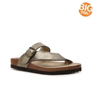 White Mountain Carly Metallic Flat Sandal