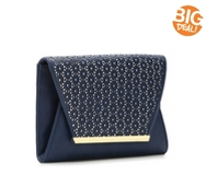 Kelly & Katie Perforated Flap Clutch