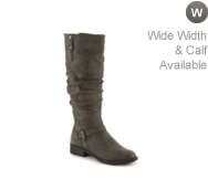 White Mountain Livery Wide Calf Riding Boot
