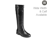 A2 by Aerosoles High Ride Croc Wide Calf Riding Boot