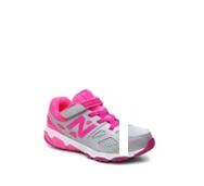 New Balance 680 v3 Girls Toddler & Youth Velcro Running Shoe
