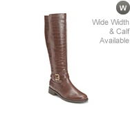 Aerosoles With Pride Croc Wide Calf Riding Boot