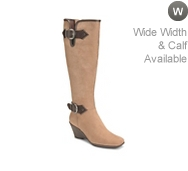Aerosoles Wonderful Wide Calf Wedge Boot