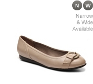 LifeStride Nero Leather Ballet Flat
