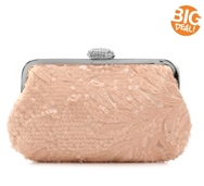 Lulu Townsend Sequin Clutch