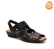 J. Renee Abner Leather Wedge Sandal