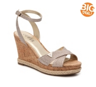 Guess Madolyn Glitter Wedge Sandal