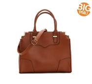 Madison West Paneled Satchel