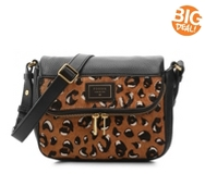 Fossil Preston Leather Cheetah Crossbody Bag