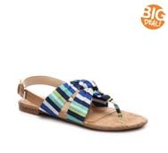 Nine West Sweets Striped Flat Sandal