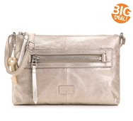 Fossil Dawson Metallic Leather Crossbody Bag