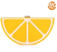 Lulu Townsend Lemon Clutch