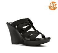 Charles by Charles David Tic Black Wedge Sandal