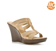 Charles by Charles David Tic Beige Wedge Sandal