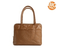 Latico Leather Woven Zip Around Tote