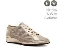 Rangoni by Amalfi Enza Leather Mesh Wedge Sneaker