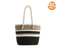 Kelly & Katie Rope Handle Striped Tote