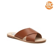 Steve Madden Mylia Leather Flat Sandal