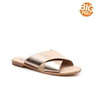 Steve Madden Mylia Metallic Flat Sandal
