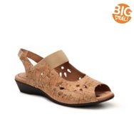 J. Renee Abner Cork Wedge Sandal