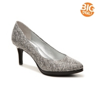 Kelly & Katie Delany Patterned Patent Platform Pump
