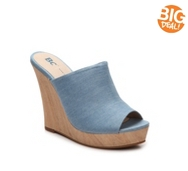 BC Footwear Terrier Chambray Wedge Sandal