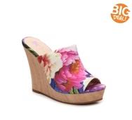 BC Footwear Terrier Floral Wedge Sandal