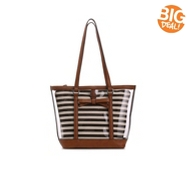 Kelly & Katie Striped Clear Tote