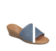 Aerosoles Badminton Denim Wedge Sandal
