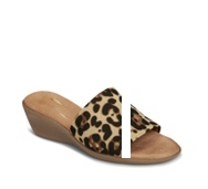 Aerosoles Badminton Leopard Wedge Sandal