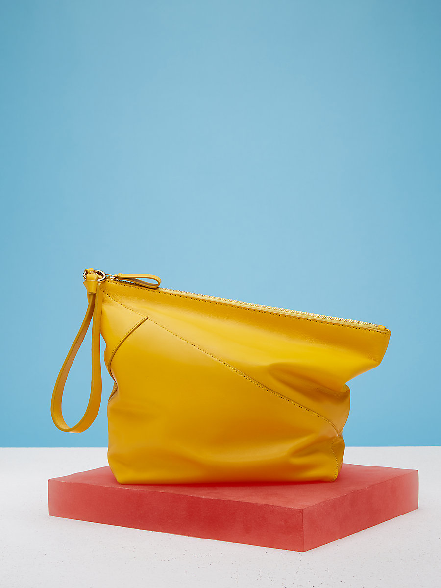 Origami Wristlet Handbag in Soleil by DVF