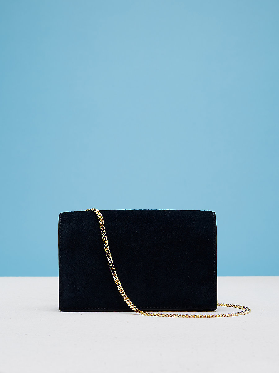 Soiree Crossbody Handbag in Alexander Navy/ Black by DVF