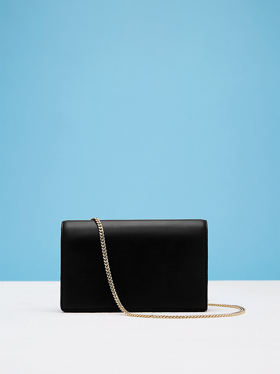 Soiree Crossbody Handbag in Black by DVF