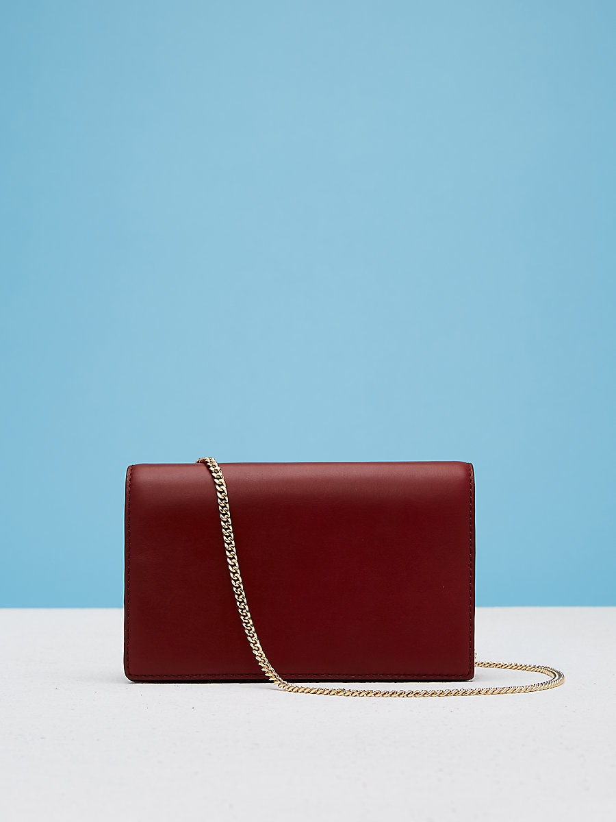 Soiree Crossbody Handbag in Red Wine by DVF